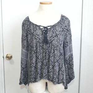 American Eagle Outfitters Peasant Top